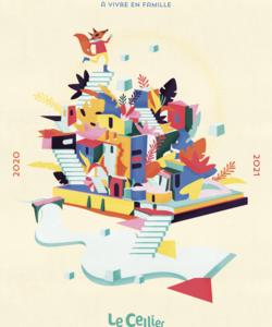 Couverture de la plaquette de la saison culturelle 2020-2021 du Cellier