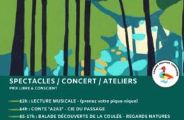 Affiche événement Douze heures en forêt au Cellier